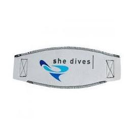 Mask Strap Trilastic She Dives